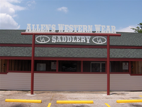 Custom Metal Store Sign for Allen's Western Wear and Saddlery- Pasadena, TX