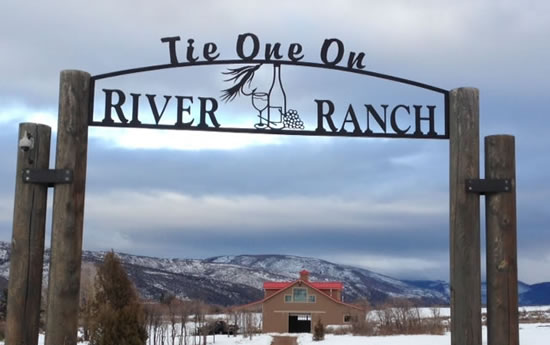 Tie One On River Ranch Custom Metal Gate Sign