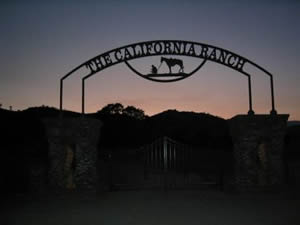 The California Ranch Gate Sign