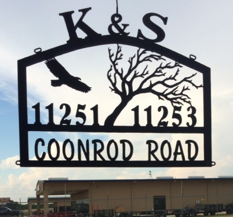 Sign for K&S Ranch in Wyoming