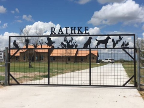 Rathke Gate in George West, Texas