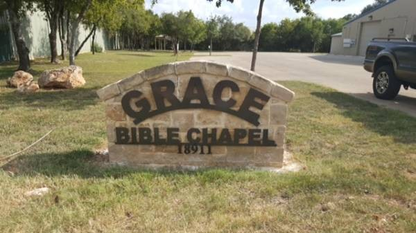 Grace Bible Chapel Entrance Sign
