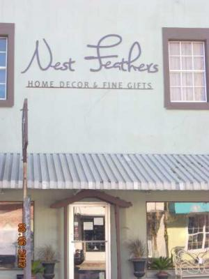 Nest Feathers store front sign