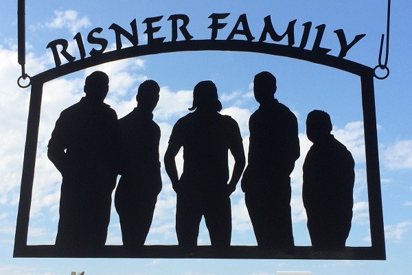Risner Boys Family Cutout