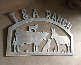 T and A Ranch sign