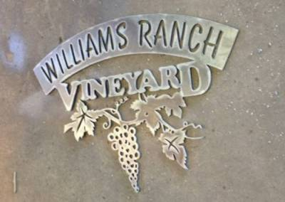 Vineyard Sign for the Williams Ranch