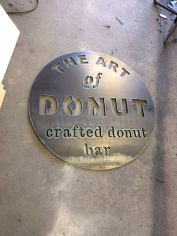 Special Donut made for trailer