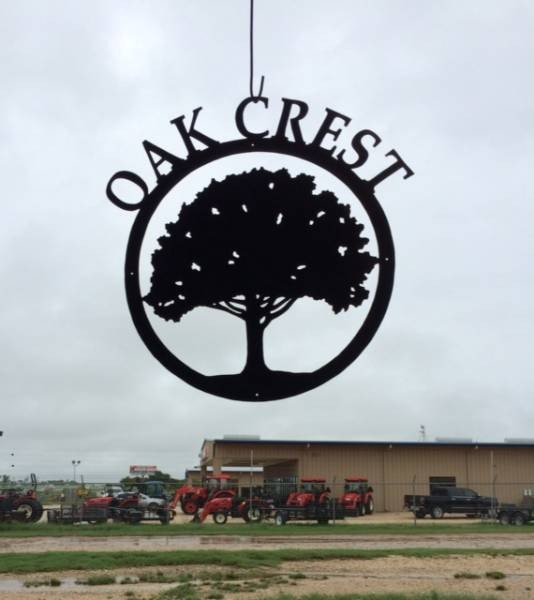 Pin Oak gate sign for Ohio