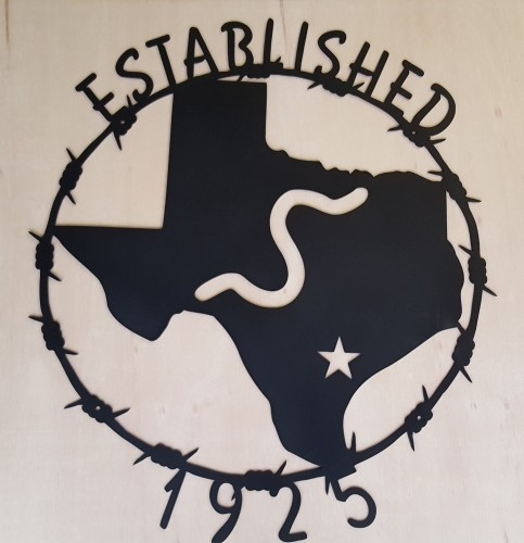 Texas Barbwire Metal Sign
