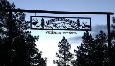 Durango Colorado sign - Ranch Gate Entrance